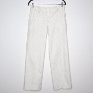 Worth | Ivory Pinstriped Straight Trouser 2R